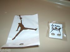 MIP- Air Jordan Jumpman Polished Stainless Steel pendant with matching earrings