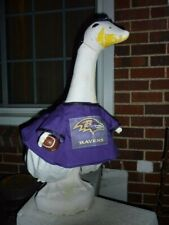 Goose Clothes 4 Lawn Geese Baltimore Ravens Football Lawn Cement & Plastic New