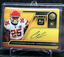 2020 Panini Elements Clyde Edwards-Helaire RPS Rookie Steel Signature Gold 29/79