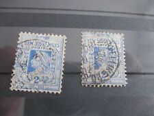 AUSTRALIE ROYAUME UNI  TERRITOIRES ET COLONIES TIMBRES NEW WALES  2 TIMBRES