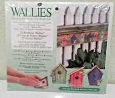 Birdhouse Wallies Wallpaper Cutouts New in Package