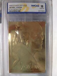1996-97, Fleer 23kt Gold , Michael Jordan, Flair Showcase , 10 Mint