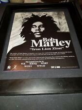 Bob Marley Iron Lion Zion Rare Original Radio Promo Poster Ad Framed!