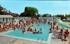 RIO GRANDE, New Jersey  NJ   Roadside POLLY'S MOTEL  Pool  ca 1960s    Postcard