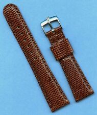 Rolex Tudor Steel Buckle & 19mm Genuine Lizard MB Strap Band Tang Leather Lined