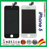 PANTALLA LCD iPHONE 5 5G COMPLETA TACTIL NEGRO NEGRA BLANCO BLANCA APPLE DISPLAY