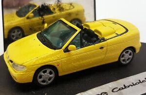 Vitesse 1/43 Scale Renault Megane Cabriolet Yellow Diecast Model Car PAINT FAULT