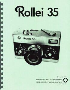 Rollei 35 Camera Repair Manual (NatCam) Photocopy