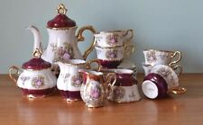 Vintage teapot set cups saucers jugs Japan fine china tea cups ceramic DBt3