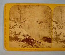 Stereoview Charles A Zimmerman Minue Ha Ha Laughing Water Waterfall St Paul (O)