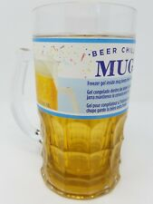 BEER CHILL'R CHILLER Plastic Mug Beverage Cooler with Freezer Gel 13 oz NO BPA