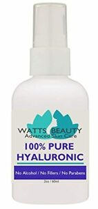 Anti Aging Wrinkle Filler of 100% Pure Hyaluronic Acid for Face - No Alcohol, No