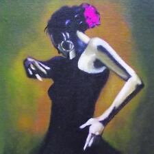 Flamenco Dancer 2: giornaliera IMPRESSIONISTA ORIGINALE Pittura ad Olio da Terry Wylde