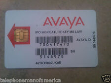 Avaya IP Office 500 V1 Feature Key Smart Card 700417470 205650 270680 202961