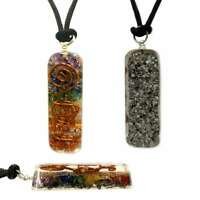 Orgone Healing Pendant Adjustable Cord 7 Chakra Stones Necklace EMF Protection
