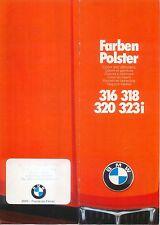 BMW SERIE 3 316 318 320 323 HO e21 COLORI E FINITURE 1978-79 ORIGINALE UK Opuscolo