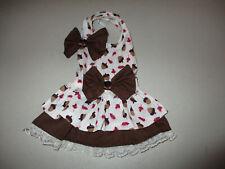 XS female Dog dress [ acorns ] cotton handmade