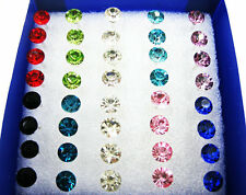 40Pcs Wholesale Lot Charming Clear Rhinestone Crystal Ear Studs Earrings Fashion