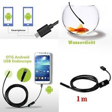 1M 7mm 6LED Android Endoscope Waterproof Snake Borescope USB Inspection Camera
