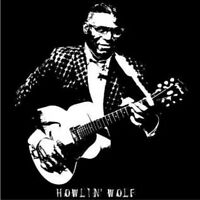 Howlin' Wolf Vintage Style t shirt Blues Rock Epiphone guitar S-5XLG  BLK