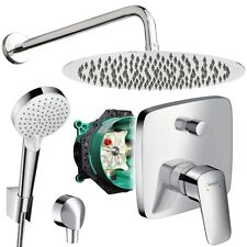 Unterputz Duschsystem mit Kopfbrause Ø 300 mm, Crometta, iBox, Hansgrohe Logis