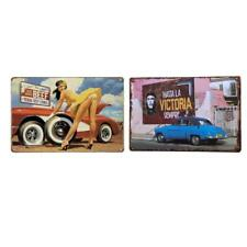 2 stücke Rustikale Metallblechschilder Wandkunst Poster Pub Bar Taverne