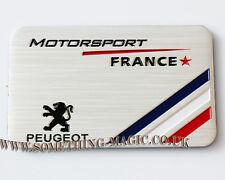 Aluminium brossé PEUGEOT Motorsport France voiture badge 207 208