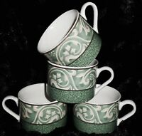 Set of 4 Coffee Cups, Vintage Coffee Cups, Sango Pavillion Cups, Dinnerware, Mug