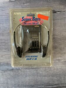 Aiwa Walkman Stereo Portable Cassette Player Radio HS-T30 Black- New- Vintage