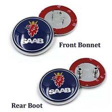 2x SAAB Front Grill & BOOT TRUNK BADGE 68MM FITS SAAB 93 9-3 2003-2010 EMBLEM