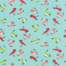 Moda Bonnie & Camille Vintage Picnic Early Bird Fabric in Aqua 55122-12