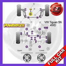 VW Tiguan 4WD 07- Powerflex Full Bush Kit Front Wishbone front Bushes Camber Adj