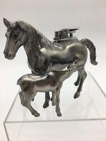 Vintage Horse Colt Table Top Lighter