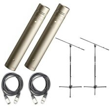 Rode NT5 MATCHED Pair Recording Condenser Microphones with Cables and Mic Stands