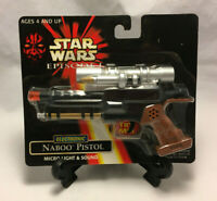 Vintage Star Wars Episode 1 Electronic Naboo Pistol Micro Light & Sound - New
