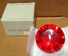 Acrylic Paperweight Marshall Field's Red