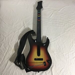 Red Octane PS3 Guitar Hero Sunburst  Wireless Controller No Dongle w/ Strap