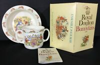 Royal Doulton Bunnykins Baby Plate Two Handled Mug Set 2 Pieces