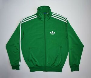 Adidas Originals Jacket Track Trefoil Green Tracksuit Long Sleeve Three Strips
