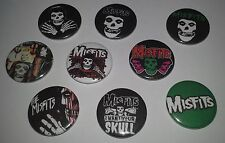 9 The Misfits pin button badges 25mm CBGB Punk Rock The Ramones Cramps Horror