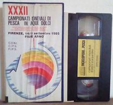 VHS Ita Documentario XXXII CAMPIONATI MONDIALI PESCA IN ACQUE DOLCI 1985(VH29)