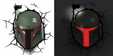 STAR WARS ~ BOBA FETT Mask / Helmet / Head 3D FX Deco Wall Nightlight LED Light
