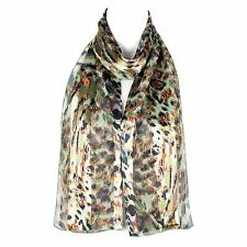 Chiffon Satin Ladies Scarf Shawl