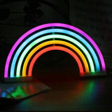 Rainbow Neon Sign Light Beer Bar Pub Store Display Lamp Party Wall Window Decor