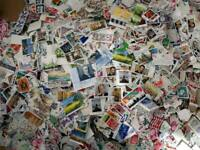 100 different worldwide stamps unpicked unsearched per lots