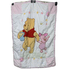 Vintage Disney Winnie The Pooh Piglet Baby Girl Quilt Comforter Honey Pot Bee