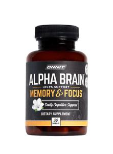 ONNIT ALPHA BRAIN (30 Capsules) | Nootropic, Memory & Focus UK