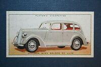 HILLMAN MINX MAGNIFICENT  SALOON   Original 1930's Vintage Colour Card
