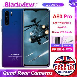 Blackview A80 PRO 6.49'' Smartphone Dual SIM FHD Android Unlocked Quad Core Slim