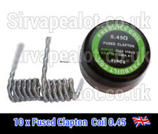 Fused Clapton coil 0.45 Ohm SS 316L+Kanthal a1 RDA RTA VAPE Premade coils x 10